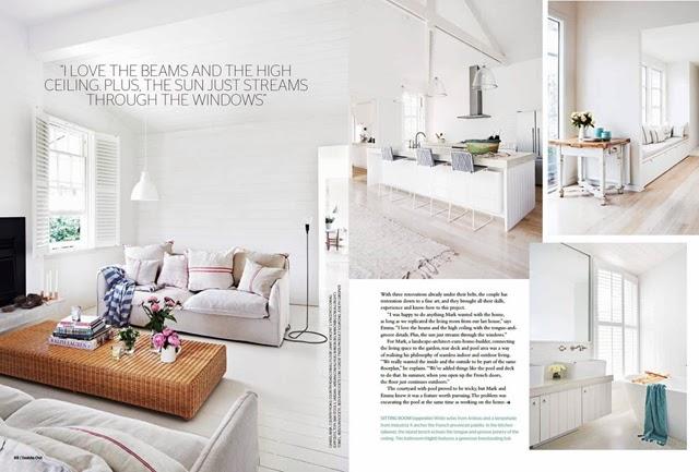 Białe, ciepłe i niepretensjonalne wnętrze