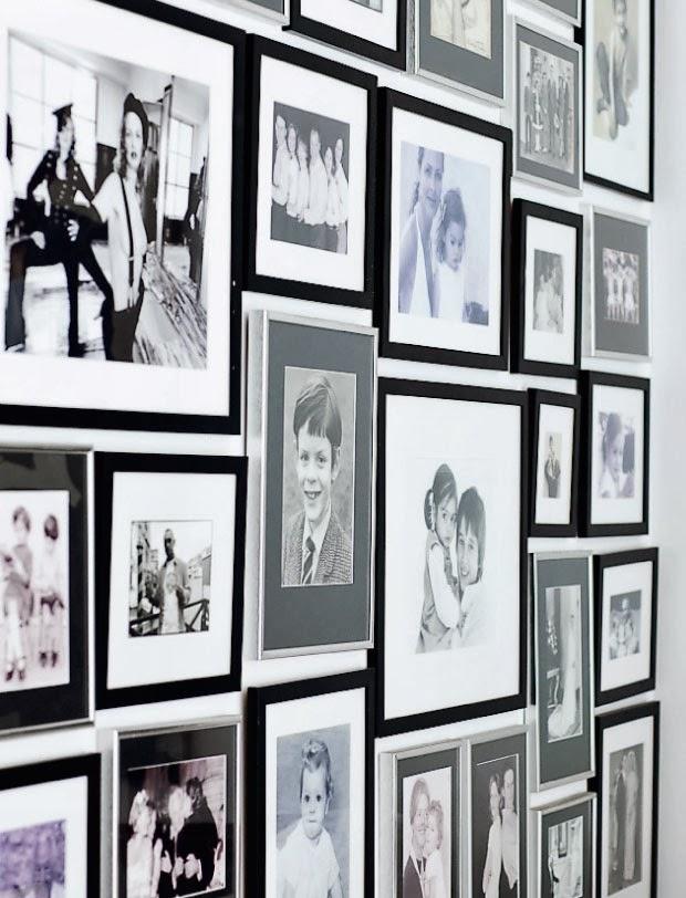 Ściana ze zdjęciami