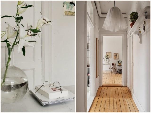 Skandynawskie wnętrze na biało