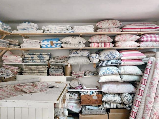 tkaniny w róże, len bawełna, vintage