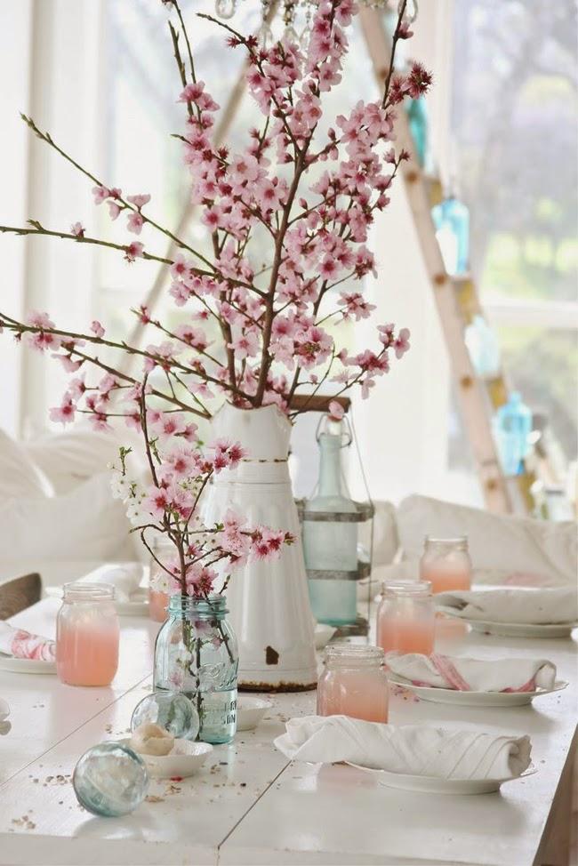 wiiosenny stół, dekoracje stołu