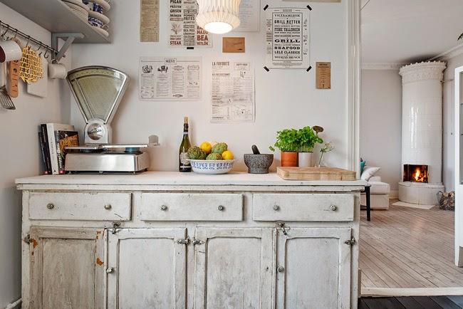 kuchnia w stylu skandynawskim, szafka kuchenna