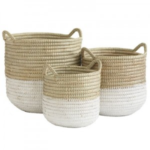 White-Dipped-Barrel-Baskets